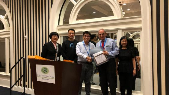 MPhil Graduate Billy LAI wins the Best Student Paper Award at the 2018 International Nano-Optoelectronics Workshop